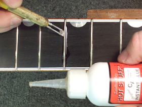 Superglue Frets in Place
